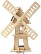 Windmühle 3D Holzpuzzle